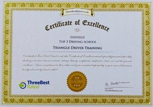 Top 3 Driving School certificate